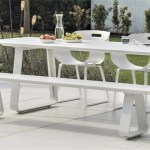 Alfresco Sled Base Teak Outdoor Dining Table