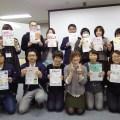 興和サイン社員3名がチラシの手描きチラシの作り方を学ぶ