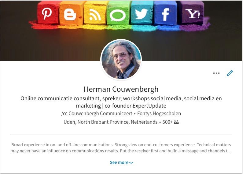 Mijn profielfoto op LinkedIn