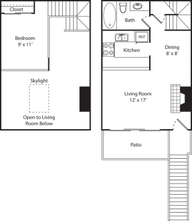 1 Bed / 1 Bath / 600 sq ft / Deposit: $350 / $925