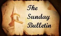 Sunday Bulletin April 19, 2015