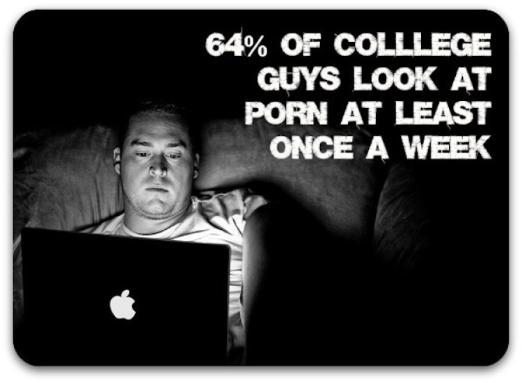 college guys look at porn