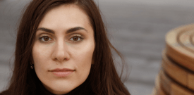 woman looking straight at the camera