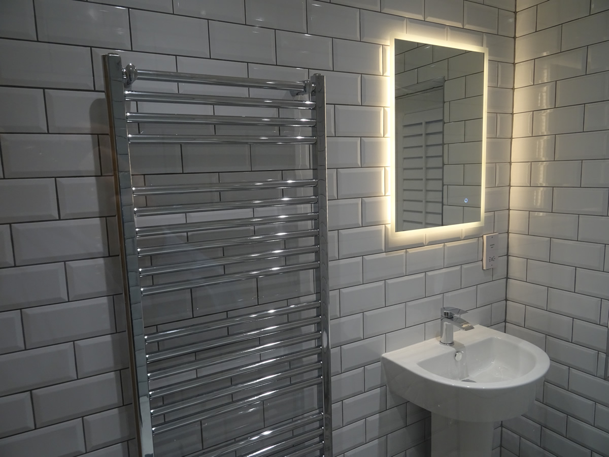 Shower Room With Metro Tiles Contemporary Fittings Westwood Heath Road