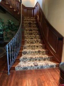 Custom Stair Runners – Coventry Flooring   Custom Stair Runners Near Me   Flooring   Basement Stairs   Staircase Makeover   Animal Print   Staircase Remodel