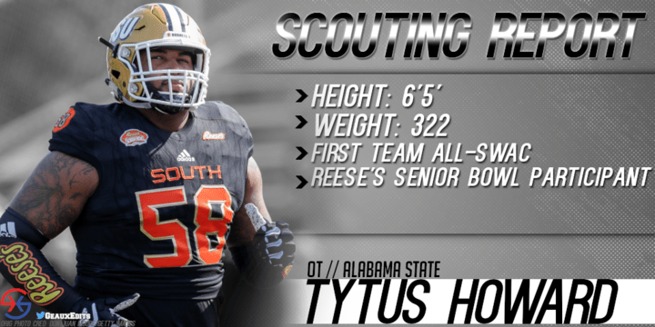 sale retailer 7dcd6 f8366 Scouting Report | Tytus Howard, OT, Alabama State | Cover 1