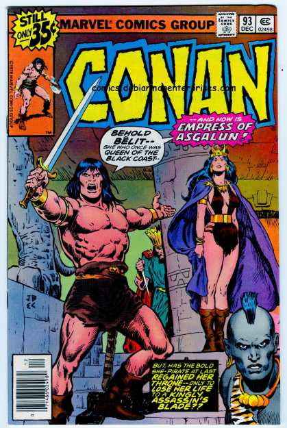 Conan the Barbarian 93 - Muscle And Beauty - Barbarians - Evil And Good - Protector Of The Throne - Assassins - Ernie Chan, John Buscema