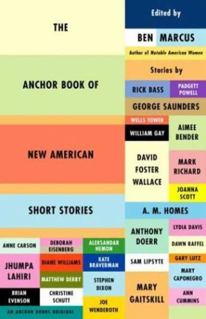 Greatest Book Covers - The Anchor Book of New American Short Stories