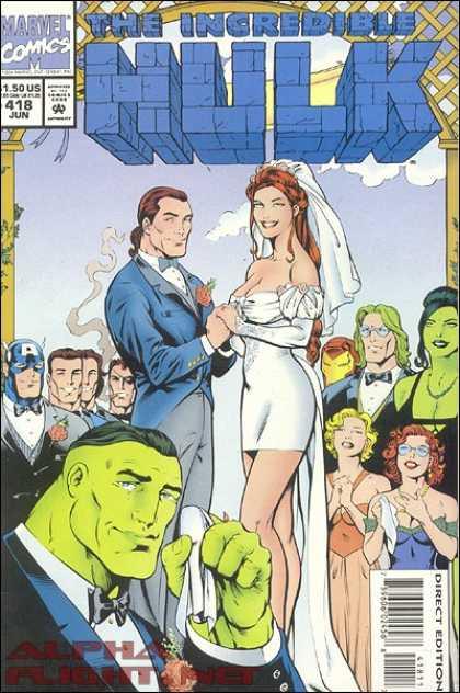 Hulk 418 - Marvel Comics - Incredible - Woman - Man - Direct Edition - Gary Frank