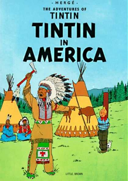 Tintin 3 - In America - Tipi - Indian - Tomahawk - Western