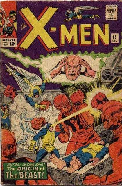 Uncanny X-Men 15 - Beast - Head - Angel - Orgin - Iron - Dick Ayers, Jack Kirby