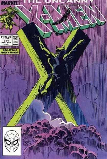 Uncanny X-Men 251 - Wolverine - Skulls - Rain - Marc Silvestri