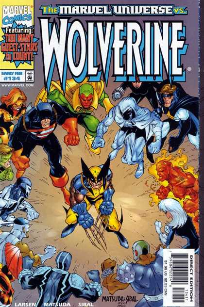 Wolverine 134 - X-man - Torch - Claws - Unfair Fight - Vision