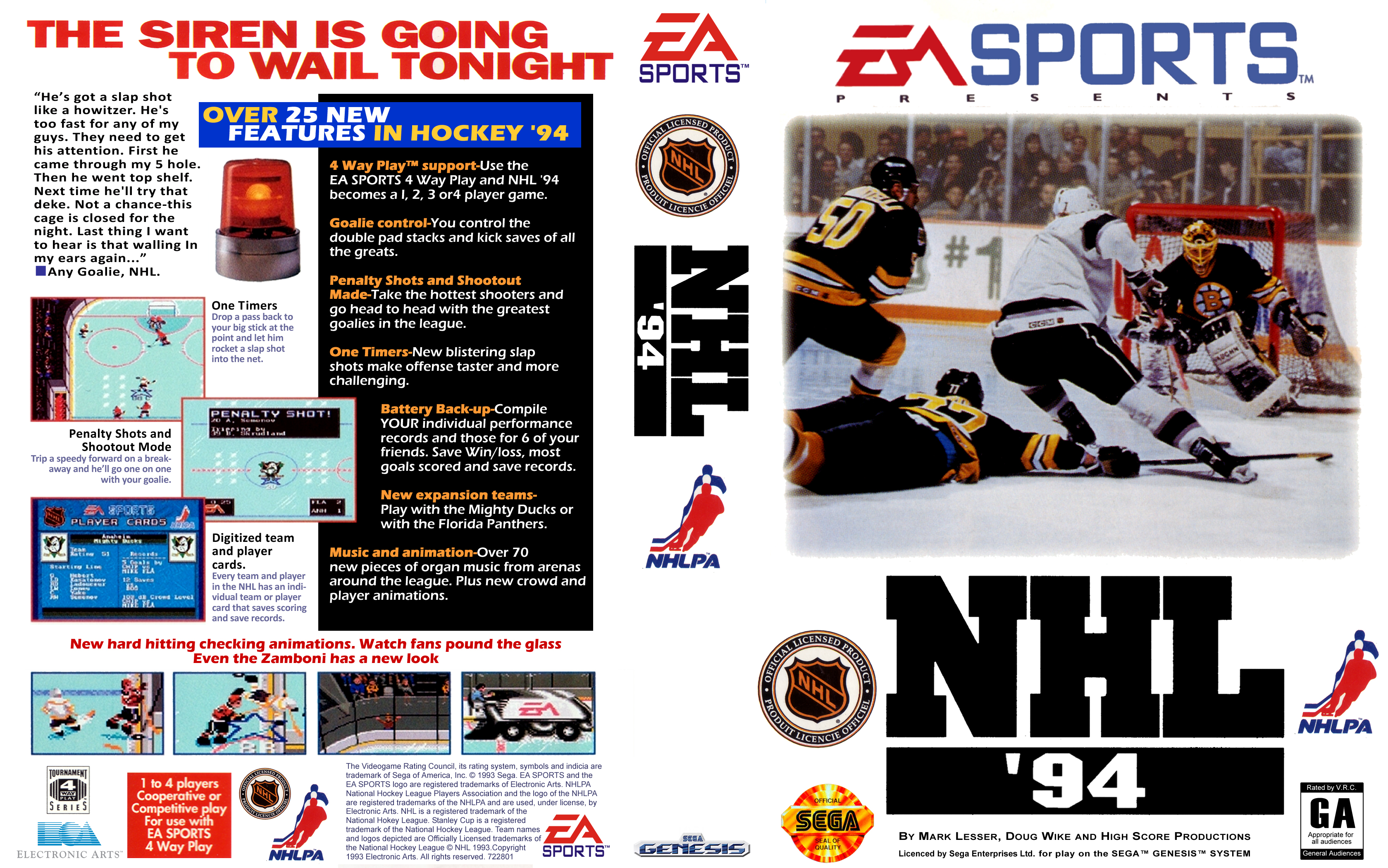 Nhl 94 Genesis Covers Cover Century Over 500 000 Album Art Covers For Free
