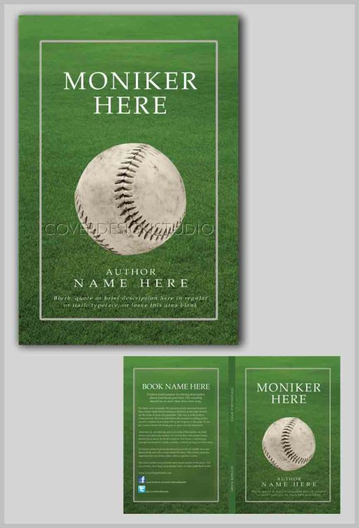 cool book cover baseball