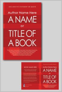 how to book cover with red stripes