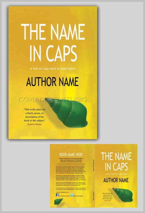 how to book cover yellow with green shell