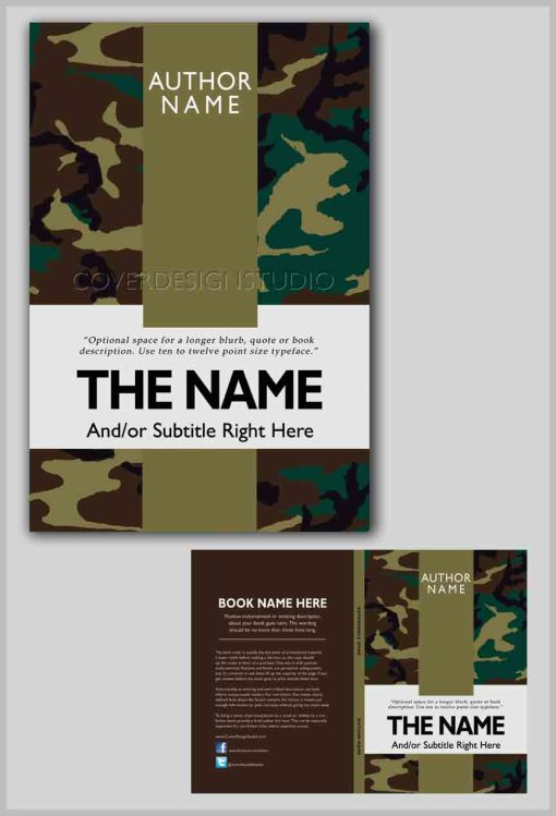 cool book cover military and camo