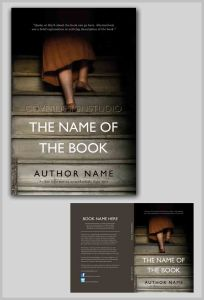 great book cover on stairs