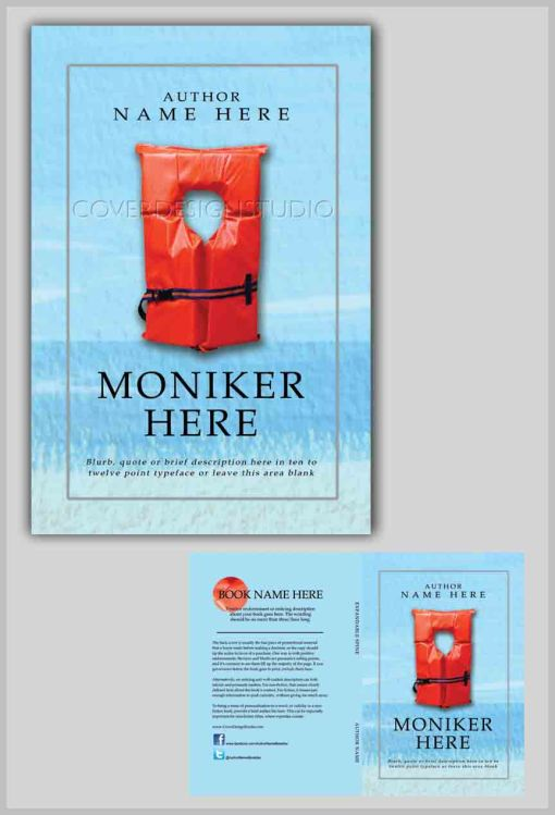 funny book cover with lifevest