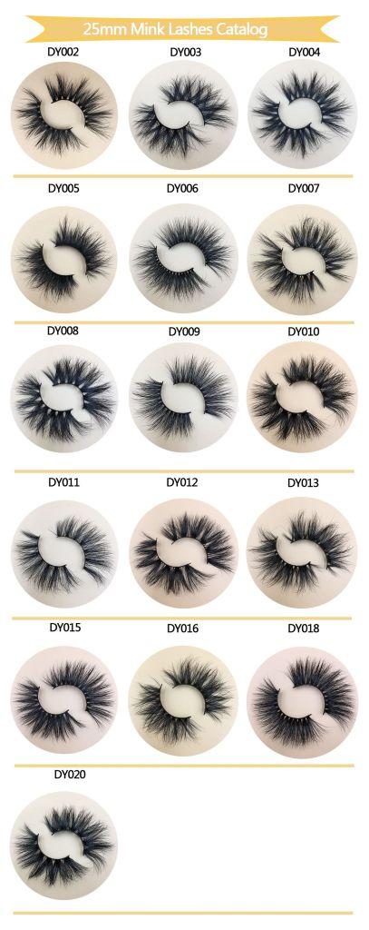 eyelash vendors 25mm mink lashes