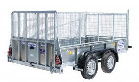 GD105 trailer with mesh sides