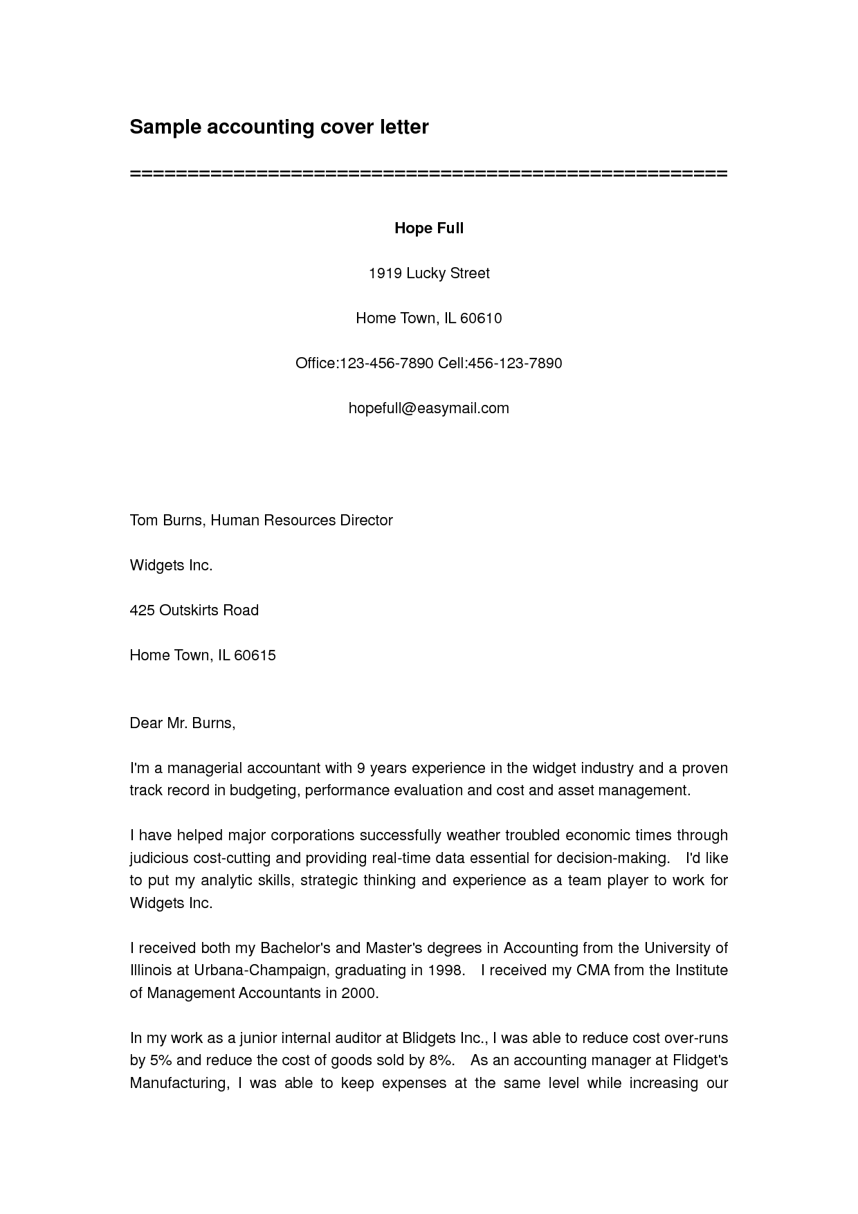 Cover Letter Sample Letters Templates Ms Word