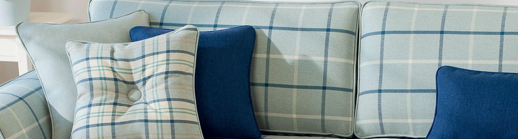 Green highland check sofa