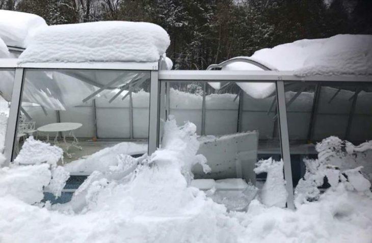 Alukov IPC- Collapsed Pool Enclosure