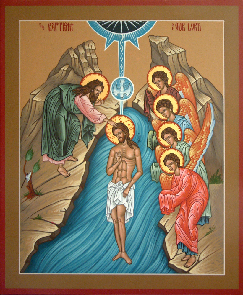 An icon of the Baptism of our Lord