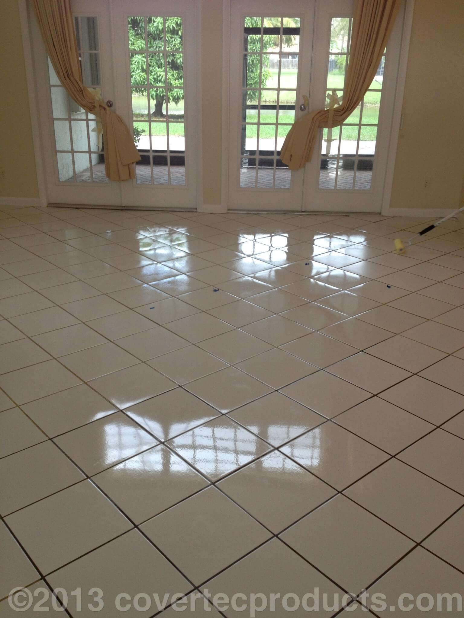 glazeguard ceramic porcelain tile sealer high gloss wet look finish