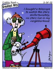 Ain't humour great!?  Maxine so sedate!  Not! lol but funny :)