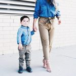 Mommy And Son Matching Outfit Ideas Chambray Shirt With Khakis Covet By Tricia