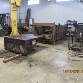 Disassembled compactor