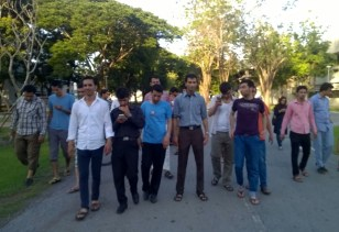 Students Arriving on campus, Klong Luang, Thailand