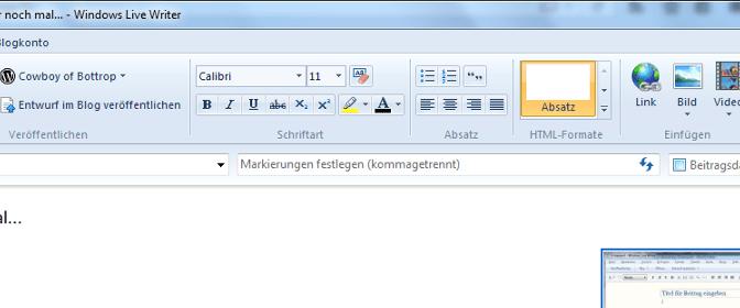 Windows Live Writer Header