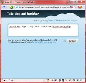 Tweet-Fenster
