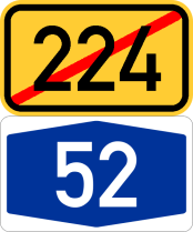Ende B224 / Anfang A52