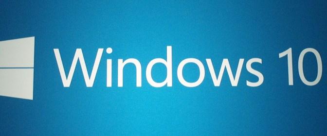 Erste Erfahrungen mit Windows10