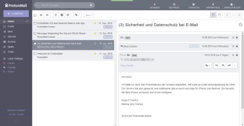 ProtonMail 3.1 Screenshot