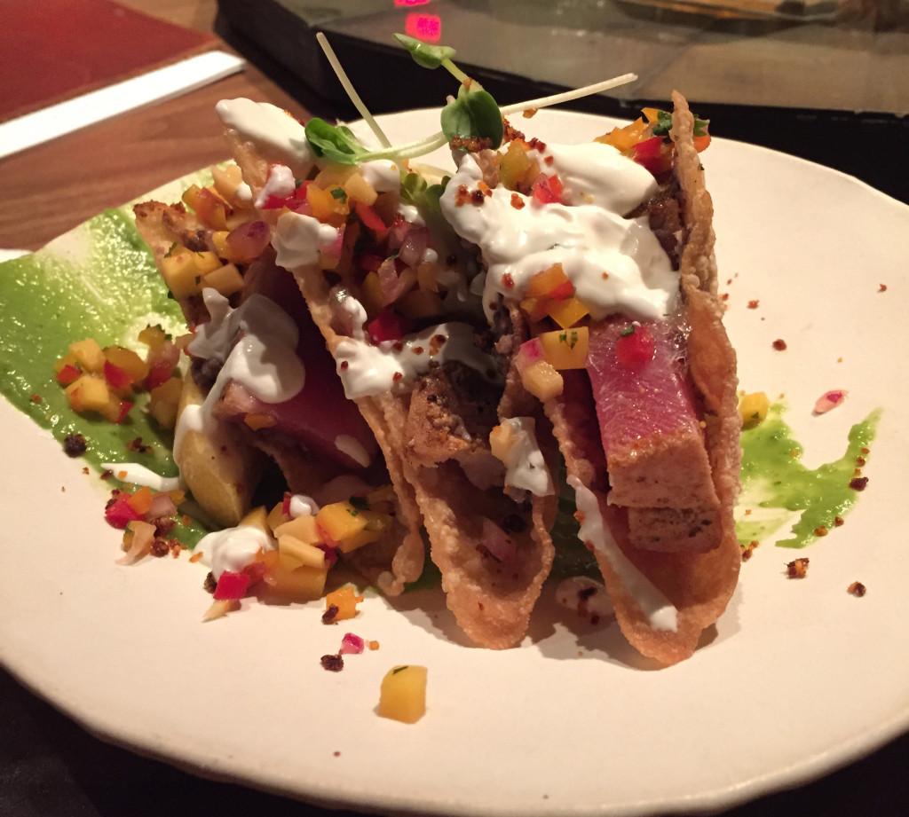Anasazi's ahi tuna tacos.