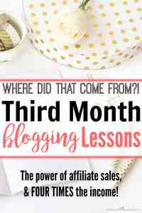 Where Did THAT Come From?! Third Month Blogging