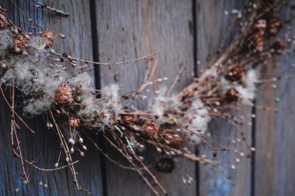 Christmas wreath - The Fluff and The Fir - Farm Shop - Cowdray Estate