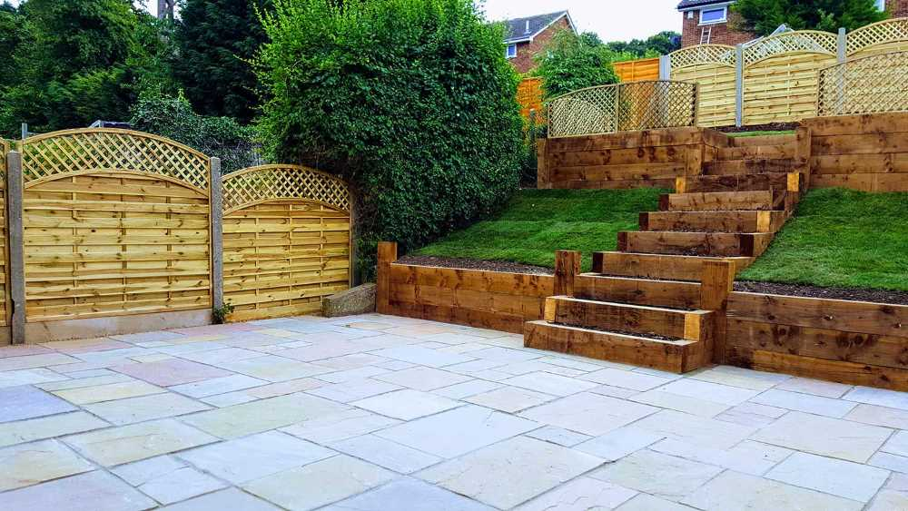 Landscaper reviews in Kent Stone Floor Sleeper Stairs Custom gate and fence in Kent