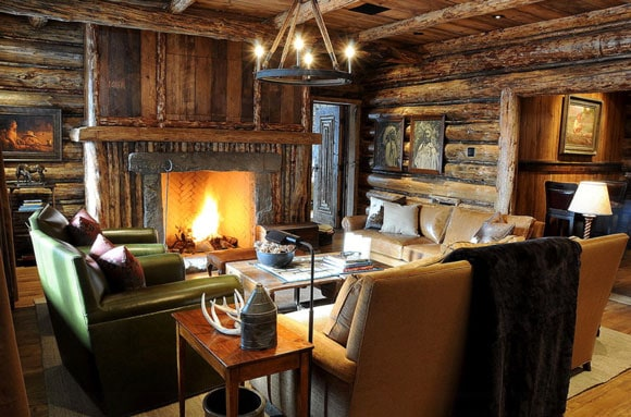 Log cabin living room pictures. the stereotype of luxury log cabin ...