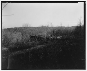 South East View, Foundation of Barn, Apple Orchard Beyond, Pioneer Cabin, Campton Station, Grafton County, New Hampshire. Historical American Buildings Survey, L.C. Durette, Photographer; Library of Congress Prints and Photographs Division.