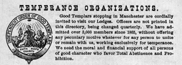 1889 Manchester Directory Templars