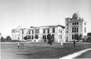 United States Naval Observatory — Washington, DC. Exterior View of the James Melville Gillis building, 1903. Note the people on the front lawn. (Photo Credit: United States Naval Observatory)