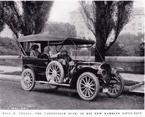 Mr. & Mrs. Will Cressy in their 1909 Rambler fifty-five.