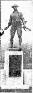 Photograph of Doughboy monument in 1927 at Salem, Ohio